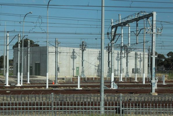 Craigieburn Sidings substation, commissioned with the yard to power the stabled trains