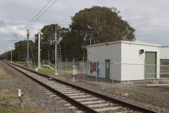 Hampton Park tie station, provided with the 1995 electrification to Cranbourne