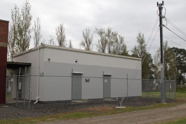 Additional equipment room at Dandenong East, provided with the 1995 electrification to Cranbourne