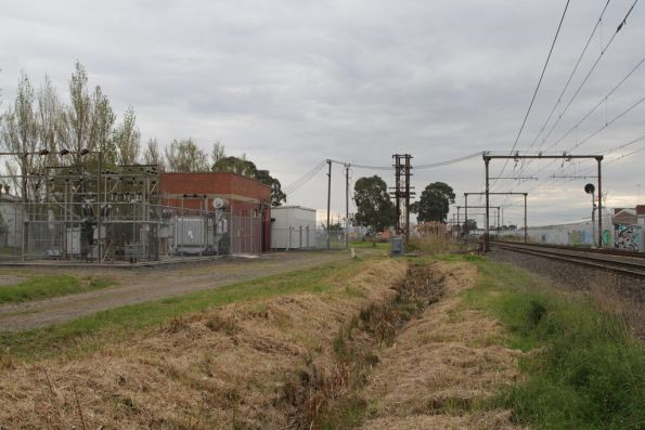 Traction substation at Dandenong East, commissioned with the Gippsland line electrification