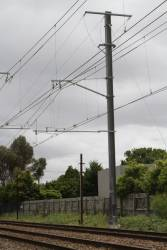 Mentone substation, one of two 22 kV feeders from the up direction terminates