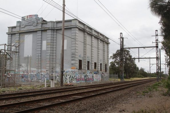 Seaford substation, the original 25 Hz powered facility was equipped with three 750 kW rotary converters