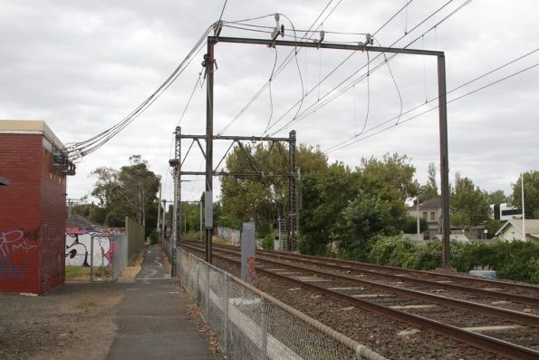 Middle Brighton substation, traction feeders to the running lines
