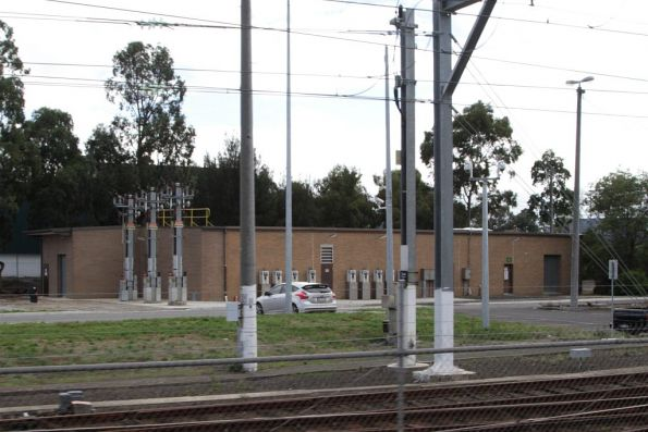 Epping Yard substation, opened in 1989 with the rest of the workshops and stabling yard