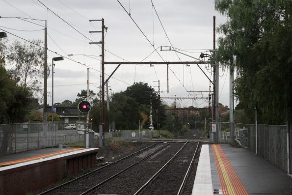 Alphington substation, traction feeders to the overhead