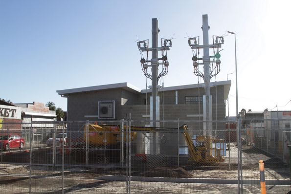 New Sunshine substation taking shape in the railway station car park