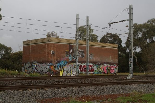 Traction substation at the down end of Werribee station