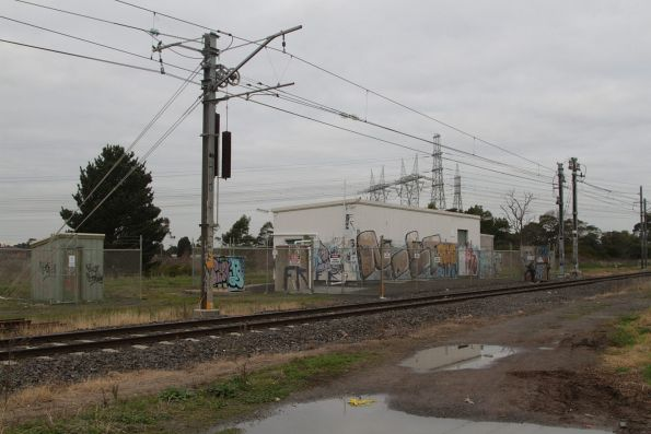 Merinda Park substation, opened with electrification of the Cranbourne line in 1995