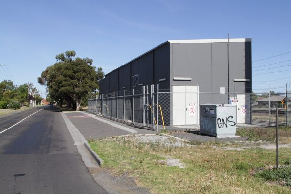 Pakenham substation, located at the McGregor Road level crossing