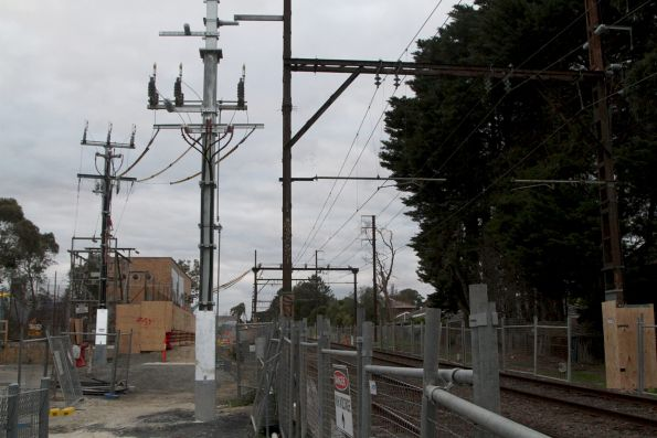 Blackburn substation, high voltage feeds follow the rail network