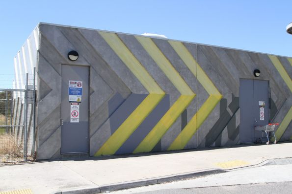 Traction substation at Roxburgh Park station