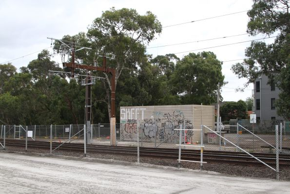 Hughesdale tie station, with relocated traction feeder cables