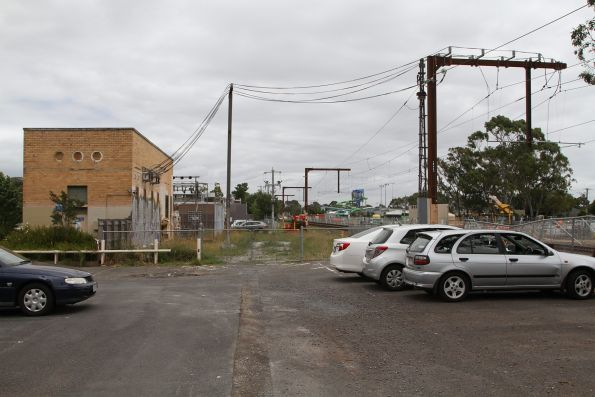 Noble Park substation, with relocated traction feeder cables