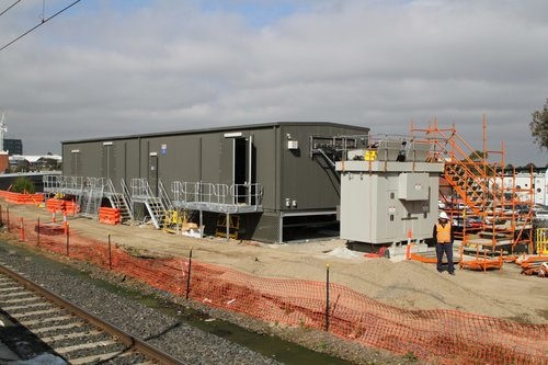 New traction power substation taking shape at Berwick station
