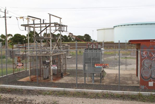 Circuit breakers and auxiliary transformers at the Altona Junction substation