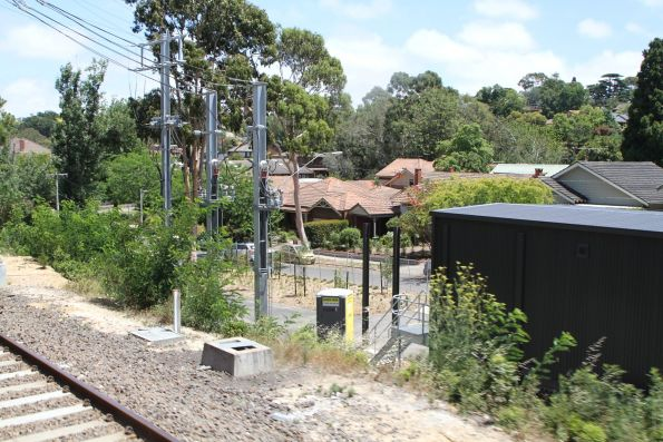 New traction substation taking shape at the up end of Eaglemont station