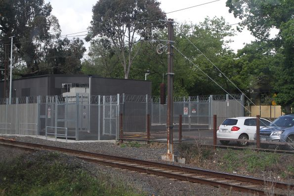 New traction substation at the down end of Surrey Hills