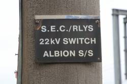22kV SEC/railway switch at the Albion substation