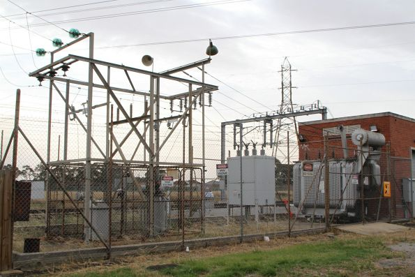 Ancient collection of transformers at the Albion substation