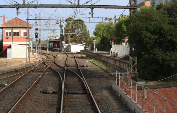 Signal box and signals depot at Caulfield