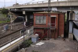 Disused signal box at West Footscray