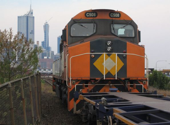 C508 shunting towards the North Melbourne Flyover