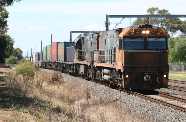 NR110 and NR119 on the down at Werribee
