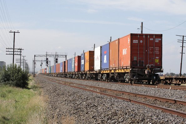 VQCX container wagons on MC2