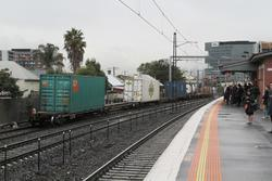 Tail end of an up standard gauge freight through Middle Footscray