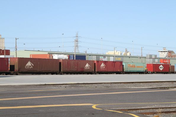 Loaded Pacific National wagons at North Dynon