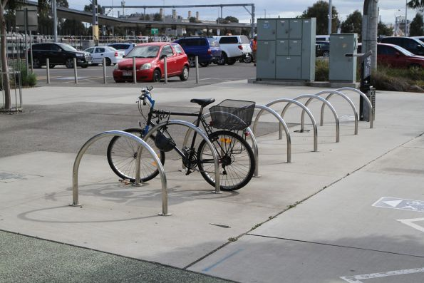 Only one bike parked at West Footscray station