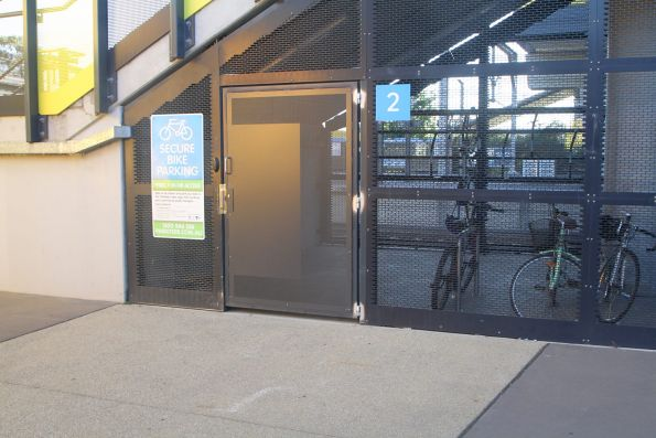 New reinforced steel door on the Parkiteer cage at Sunshine station