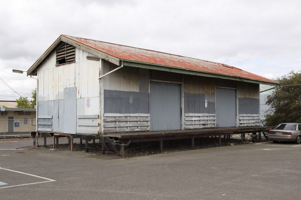 Goods shed at West Footscray: the station car park used to be the goods yard