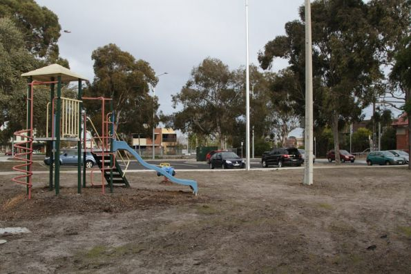 Marooned children's playground at North Williamstown after the railway car park was upgraded
