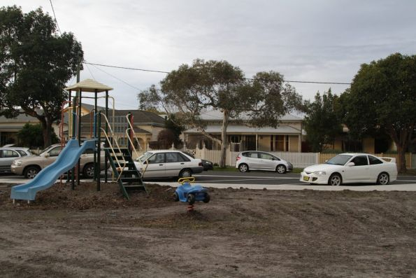Marooned children's playground at North Williamstown after the car park was upgraded