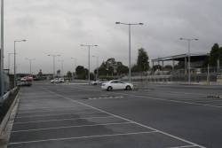 Expanded car park at the city end of Mitcham station