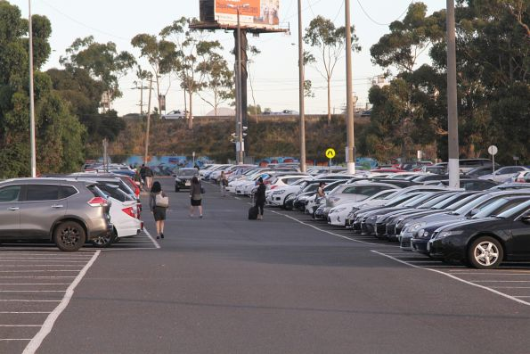 Commuters park their cars and head for Albion station
