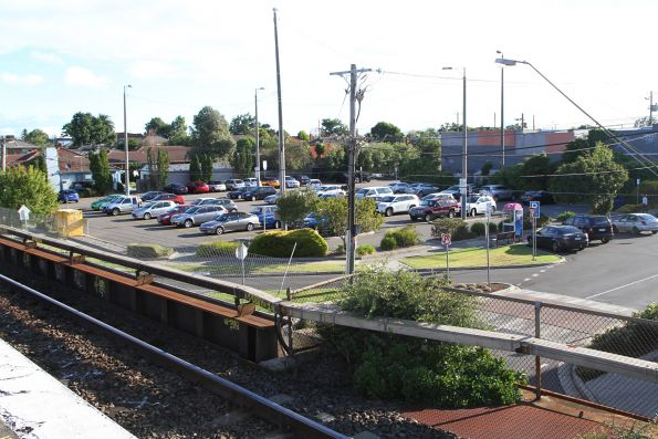 Looking across to the station car park at Patterson