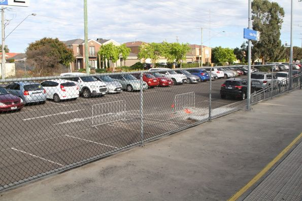 Car park works at Keilor Plains station