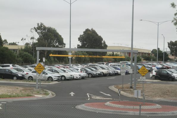Watergardens station car park - 2.9 metre height and 6 tonne weight limit