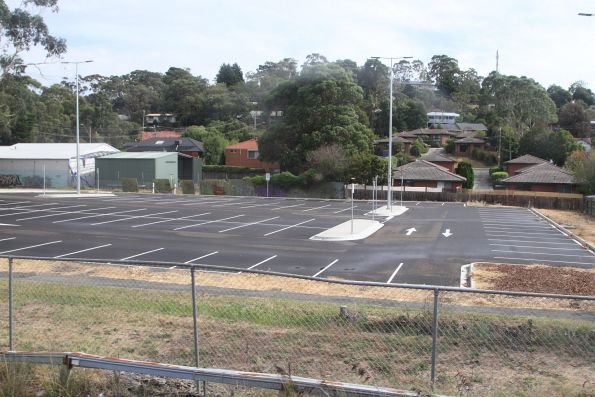 Upgraded car park on the north-west side of Ferntree Gully station