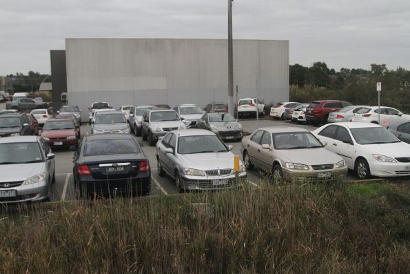 Car park at Hallam station