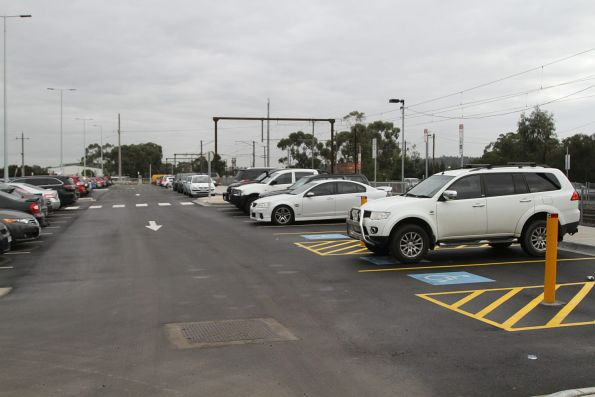 Rebuilt car park on the south side of Officer station
