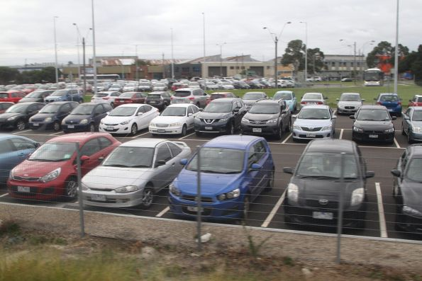 Upgraded car park on the north-eastern side of Huntingdale station