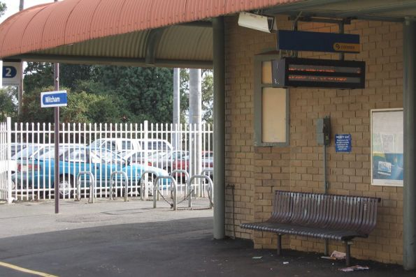 Connex-style station signage at Mitcham