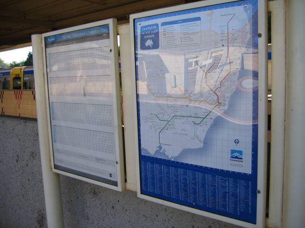 CountryLink (NSW) network map at Werribee station (VIC) - cross promotion going a bit too far!