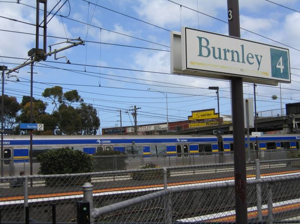 New Metlink station signs replace the 1990s 'The Met' signs at Burnley