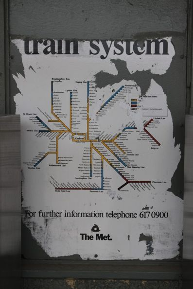 Tattered \'The Met\' train system map at a suburban station - Wongm\'s ...