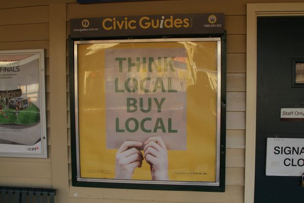 Rebranded 'Civic Guides' map at Mordialloc station