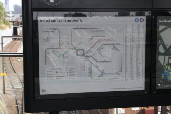 New 'Victorian train network' map displayed at North Melbourne station